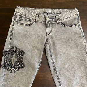 Express Jeans Gray Rockstar Embellishments